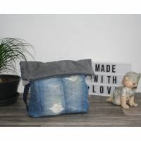 """Upcycling"" Rucksack ""FoldOver"" aus Jeans Bild 1"