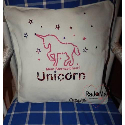 Plotterdatei Sternzeichen Unicorn RaJoMa