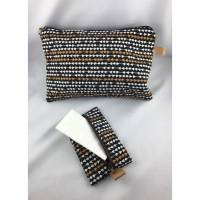 Set bestehend aus Kosmetiktasche schwarz mit einem TaTüTa  mit Reisverschluss ( 048) Bild 1