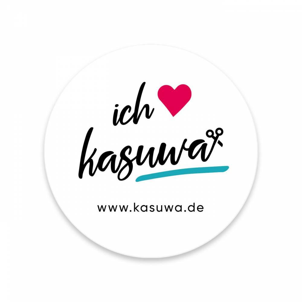 kasuwa Indoor-Aufkleber, einseitig, vierfarbig, rund, 8 cm Bild 1