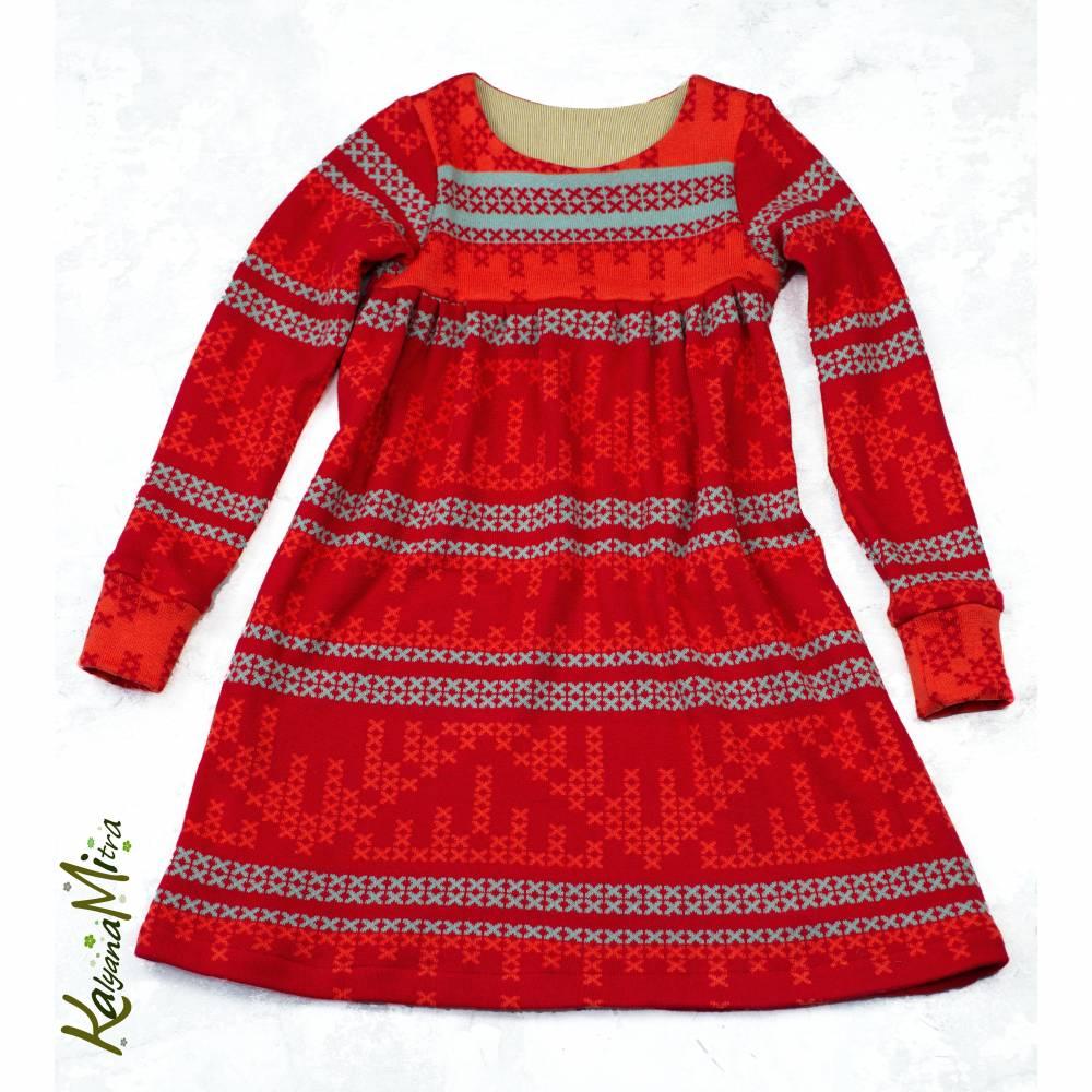 Mädchen Kleid Baumwollstrick BIO Bild 1