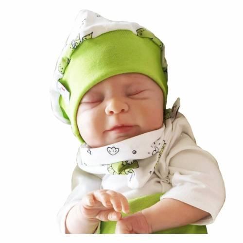 Mütze und Tuch Drache grün 231