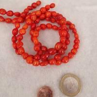 Dunkel orangefarbene Bambus Koralle, unregelmäßige Form Bild 1