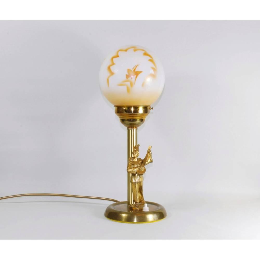 UNIKAT Harlekin Tischlampe 43 cm Bild 1