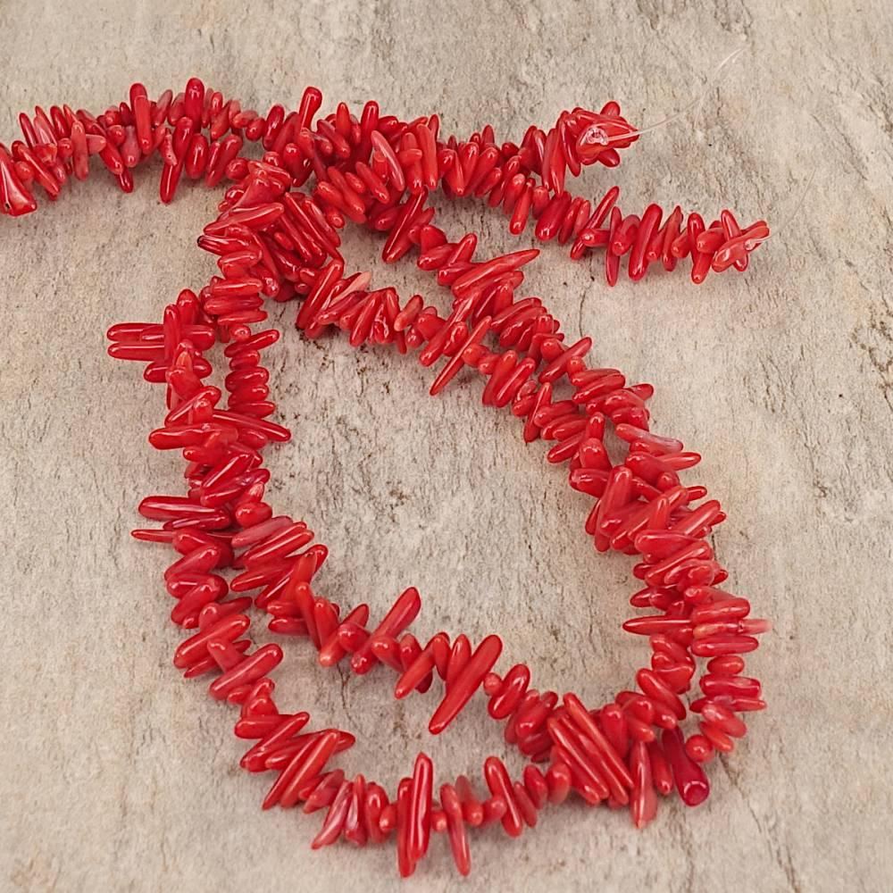 Bambus Koralle Ästchen, rot Bild 1
