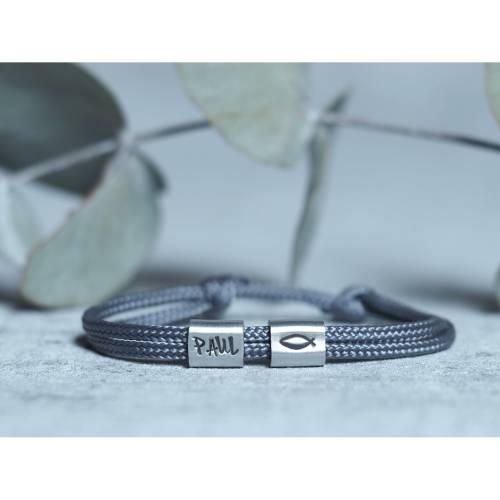 Armband personalisiert mit Gravur handgestempelt zur Taufe, Kommunion, Geburtstag, Schulanfang, Konfirmation