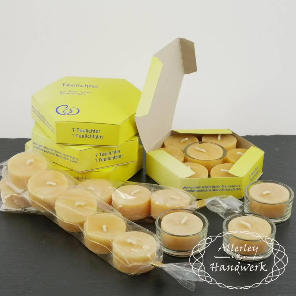 Teelichter ● 100% Bienenwachs ● handgezogen Bild 1