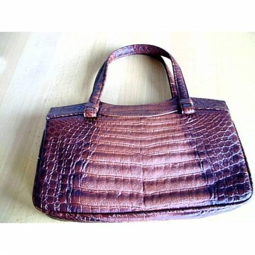 Vintage♥Handtasche♥Lady Kroko♥in braun♥aus den 70er Jahren♥