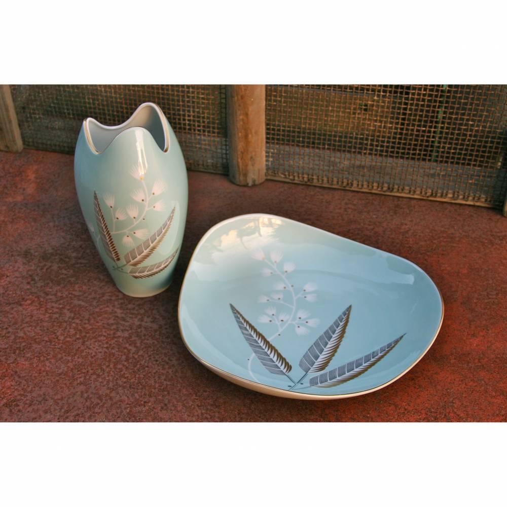 Vintage Vase und Schale Hertel Jacob Florenz 50er Jahre Bild 1