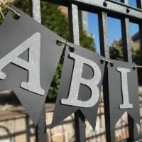 Girlande zum Abitur 2021 Wimpelkette aus Papier zum ABI Schulabschluss Abiball Abifeier Bild 4