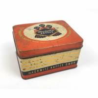 Vintage Blechdose von der Machwitz Kaffee GmbH, alte Kaffeedose Bild 1