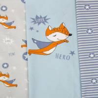 Hilco Jersey PANEL blau grau Fuchs Fox Superheld Bild 1