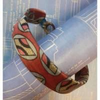 Handgearbeitetes Wickel-Armband Spiralband Glasperlen Upcycling Bild 1