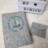 Individuelle Gotteslobhuelle  aus Wollfilz, personalisiert bestickt  Bild 1
