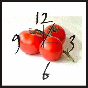 "Wanduhr ""Tomaten"""