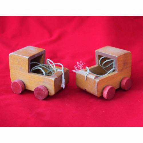 Puppenwagen aus Holz Vintage