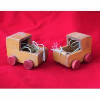 Puppenwagen aus Holz Vintage Bild 1
