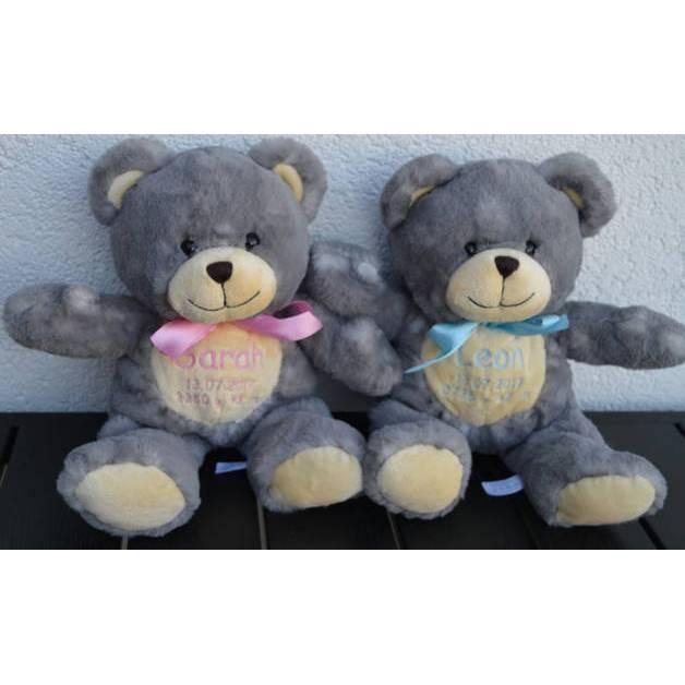 Teddy bestickt, Teddy mit bestickten Pfoten, Geschenk, Taufe, Hochzeit, Geburt, Einschulung Bild 1