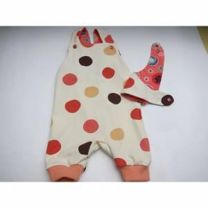 Frühlings Öko-Strampler und Halstuch Set Polka Dots für Babies buntes  Gr 56-62 Baby Strampler,