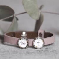 Personalisiertes Lederarmband | Firmung | Kommunion | Taufe | Konfirmation | Geburtstag | Einschulung Bild 1
