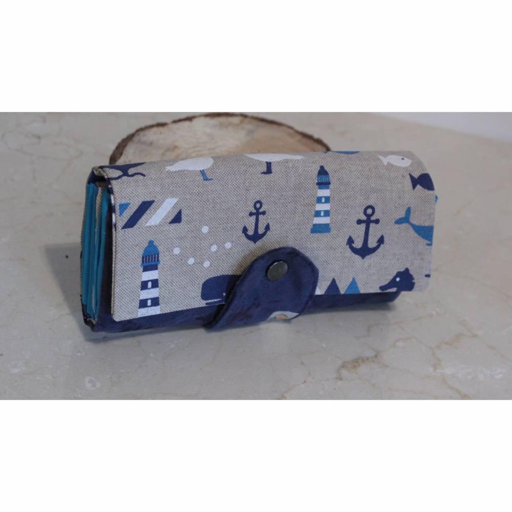 Portemonnaie Ruby - Platz für alles was Frau braucht - maritim blau Bild 1