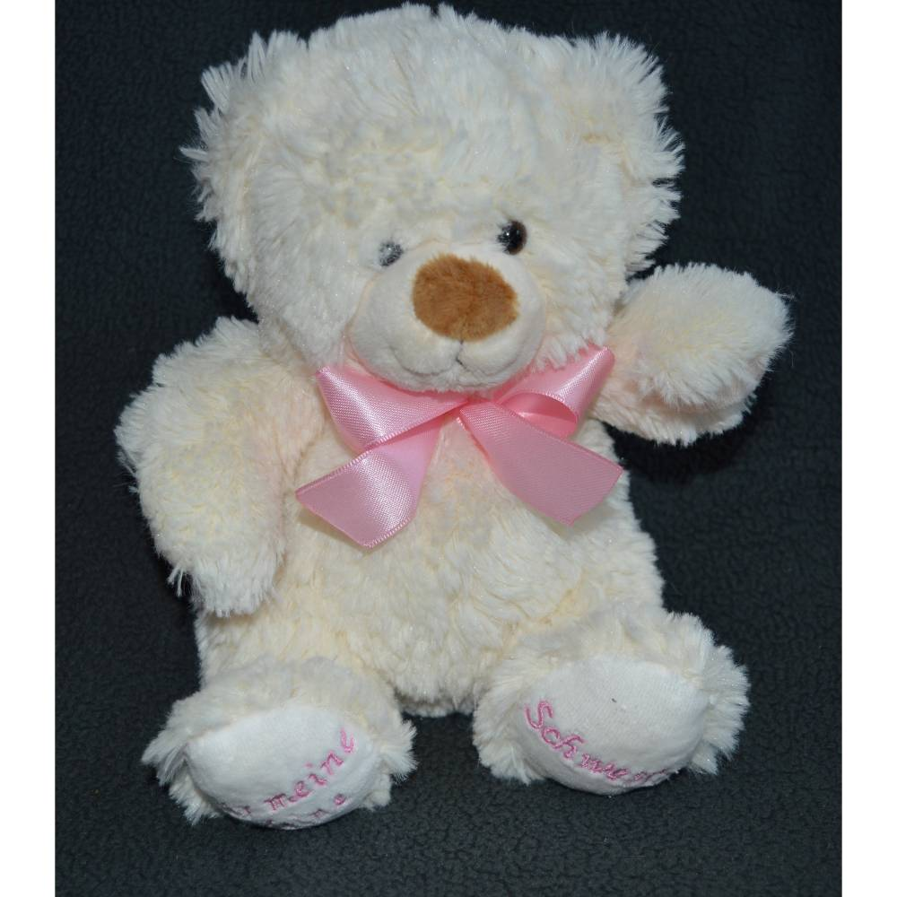 Kleiner süßer Teddy mit Namen  bestickt Bild 1