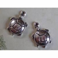 5 Anhänger, Schildkröte, Schildkröten,silber, Vintage-Stil, charm, charms Bild 1