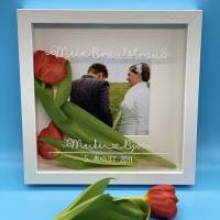 Bilderrahmen für deinen Brautstrauß, verschiedene Schriftarten und Farben möglich, personalisierbar Bild 1