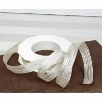 5 Meter Dekoband zart, beige mit Streifen,  1,5cm breit, 0,90€/ Meter Bild 1