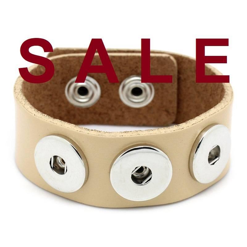 SALE! Armband,Leder,Lederarmband für Druckknöpfe, Button, Druckknopfbutton,statt 14,99 Euro jetzt 7,99 Euro Bild 1