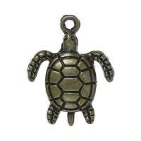 5 Anhänger, Schildkröte, Schildkröten, bronze, Vintage-Stil, charm, charms,34057 Bild 1