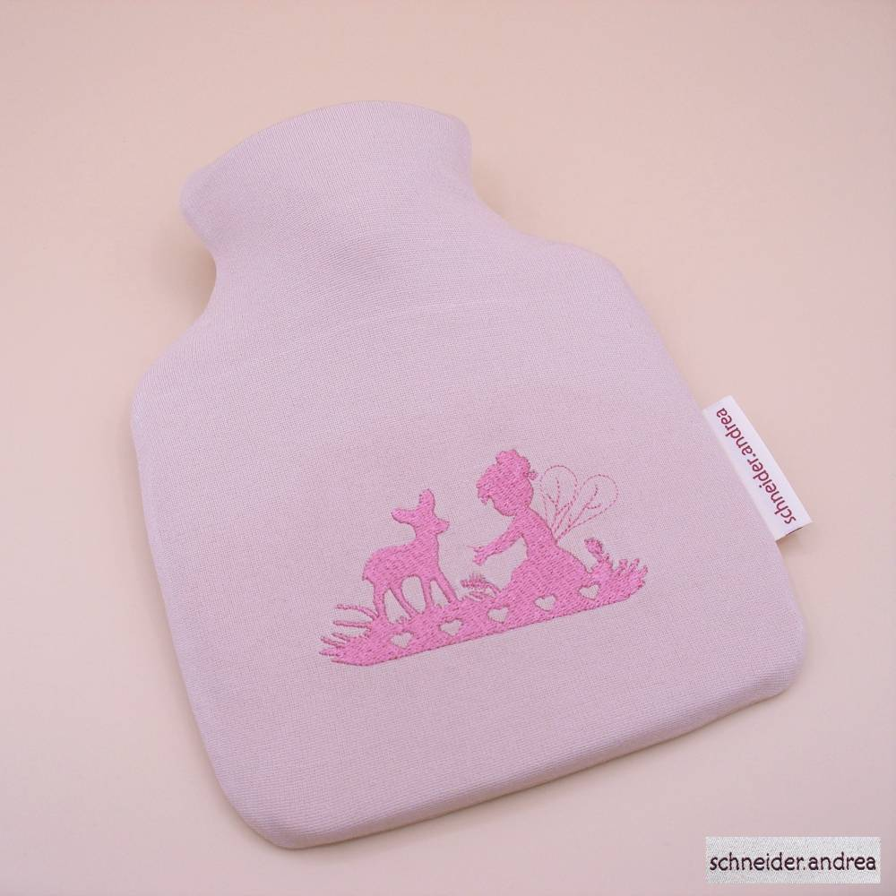 Bestickte Baby - Wärmflaschenhülle FEE Bild 1