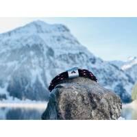 Personalisiertes Herren Bergsteiger Armband aus Segeltau handgestempelt | Berge | Tirol | Bergsteiger | Alpen | Himalaya Bild 1