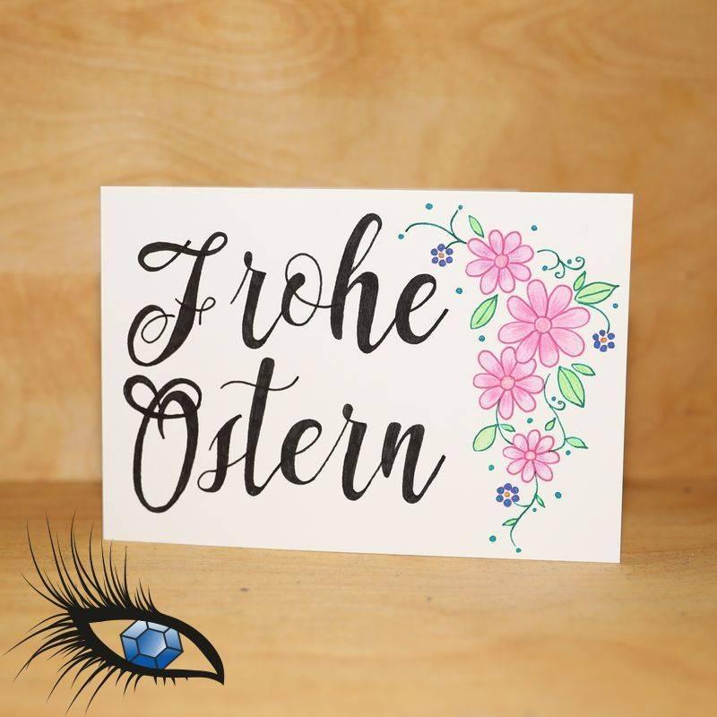 """Klappkarte """"Ostern"""" - handgeschrieben + handgezeichnet - [KAS-P-00002] Bild 1"""
