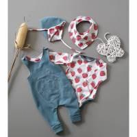 Babyset Strampler, Body, Mütze, Tuch Größe 56 Bild 1