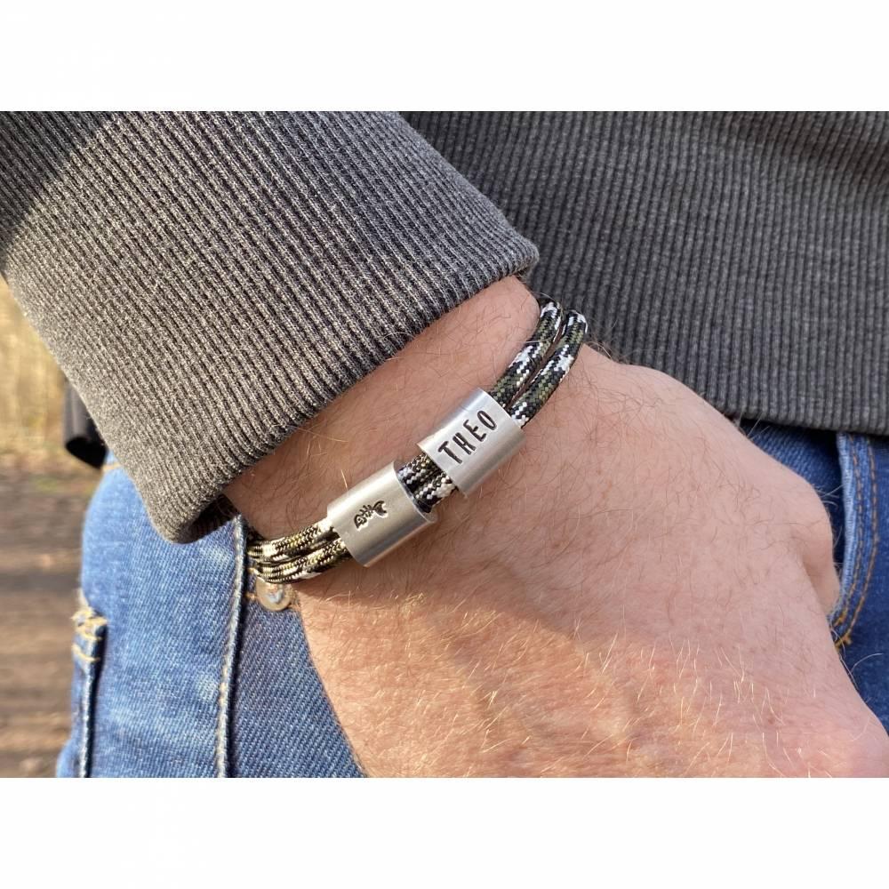Herren Armband personalisiert mit Namen handgestempelt | Geschenk Mann | Bild 1