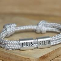 Herren Armband personalisiert mit Namen handgestempelt | Geschenk Mann | Bild 2