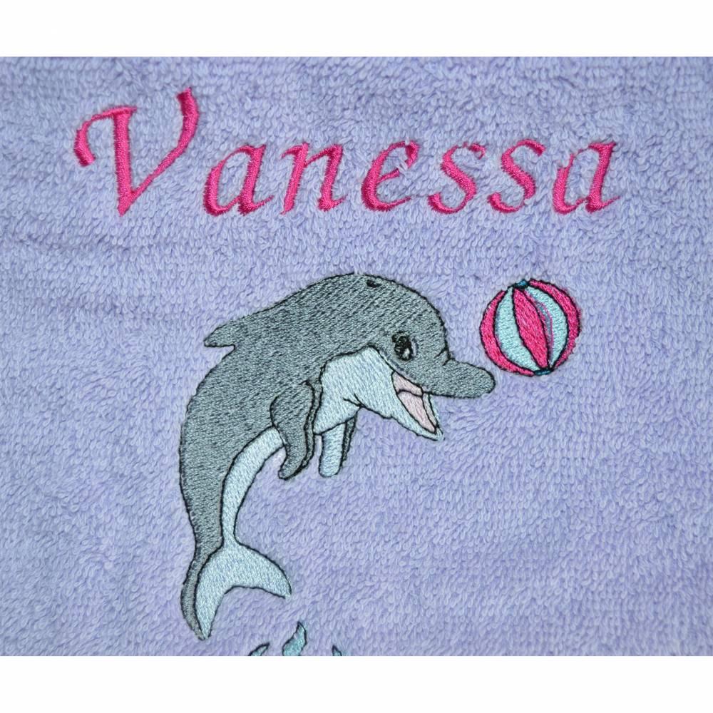 Handtuch Motiv Delphin Bild 1