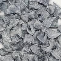 Mini-Schleifen, 6 Stück, 20x25mm, Tüddel, Grau Bild 1