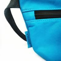 Gürteltasche, Crossbodybag aus türkisem Leder mit verstellbarem Ledergurt Bild 3