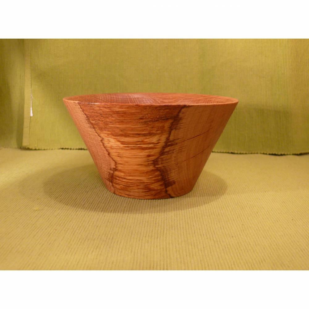 Sehr schöne gedrechselter Holzschale aus Eiche. Bild 1