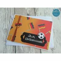 """Glückwunschkarte zur Einschulung """"Fußball"""" aus der Manufaktur Karla Bild 2"""