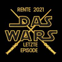 Stickdatei Rente 2020 Das WARS Spruch 13x18 Rahmen Kissen Kissenmuster Rentner Rentnerin Pensionär Pensionärin Bild 1