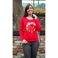 Langärmliges Bio-Shirt für Pferdeliebhaber - Pferd Rainbow - TOP QUALITÄT! Bild 1