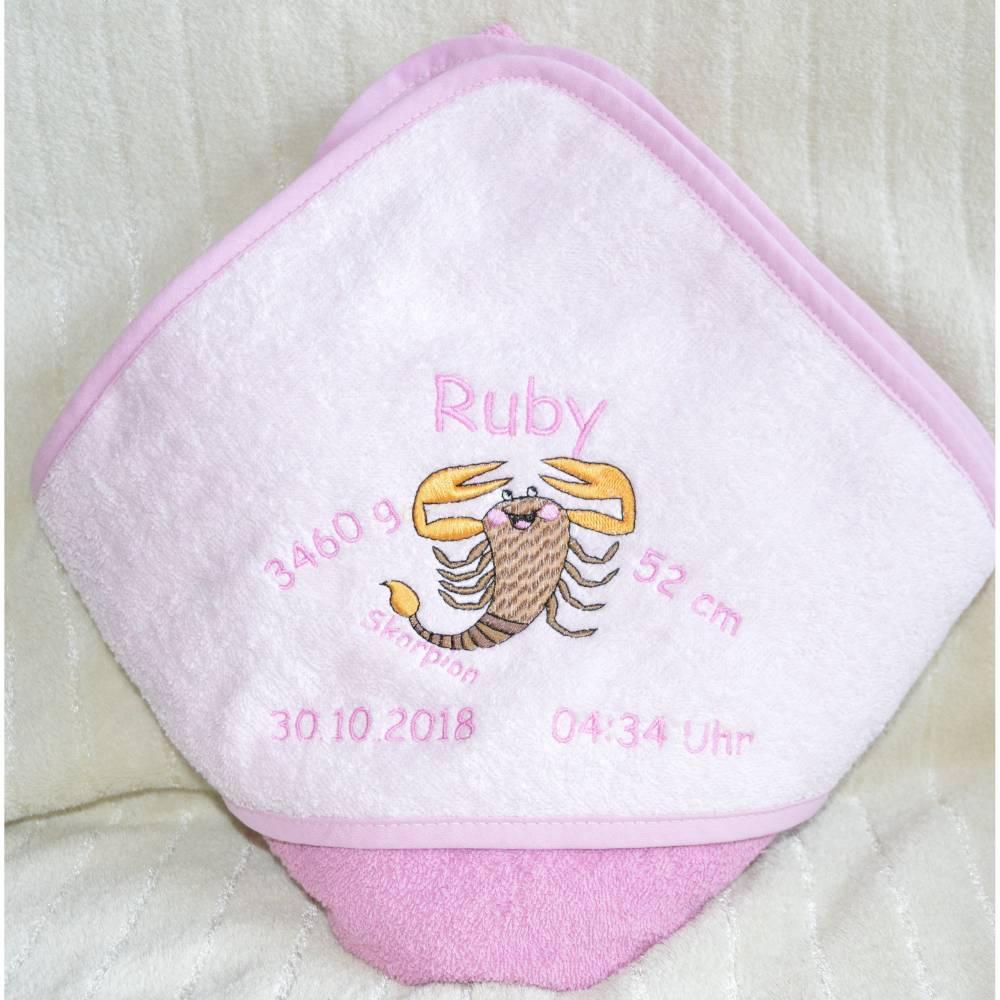 Baby Kapuzentuch Sternzeichen Bild 1