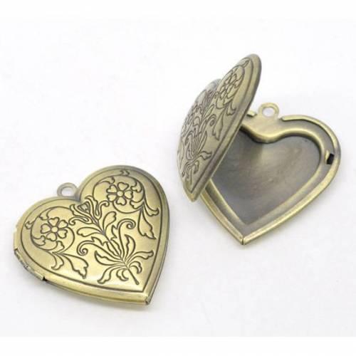 Herz Medallion, Anhänger, Schmuckanhänger, Herzmedaillon, Herz, verziert, vintage, antik