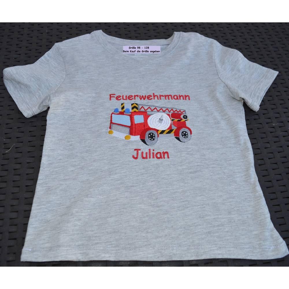 Kinder T- Shirt Feuerwehr Bild 1