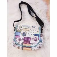 Umhängetasche Handtasche kleine Tasche Handmade Geschenkidee Unikat Baumwolle Schultertasche Kindergartentasche Eulen Bild 1