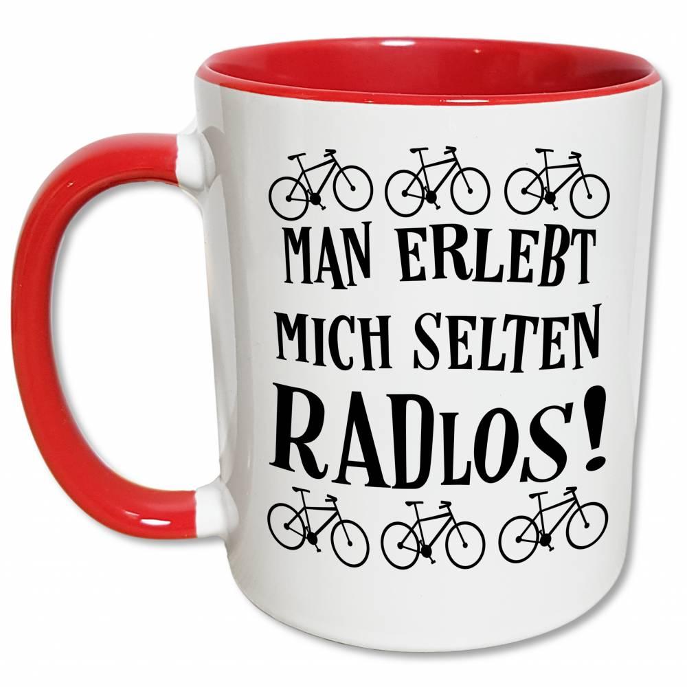 Fahrrad Tasse,  Radfahrer Geschenk, Radfahren Sprüche Kaffeetasse, Lustiger Radlos Spruch Bild 1