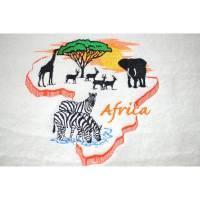 Handtuch mit einem schönen Afrikamotiv bestickt Bild 1